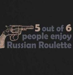 Russian Roulette funny joke image