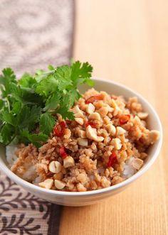 香味野菜のアジアン丼 のレシピ・作り方 │ABCクッキングスタジオのレシピ | 料理教室・スクールならABCクッキングスタジオ