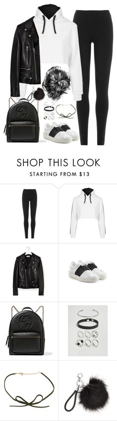 """""""Untitled#4588"""" by fashionnfacts ❤ liked on Polyvore featuring DKNY, Topshop, Yves Saint Laurent, Valentino, Gucci and ASOS"""