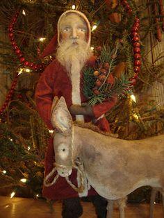 Primitive Sisters Hidden in the Attic Make Me a Memory: New Santa Listings!