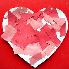 Mosaic Heart Valentine Craft