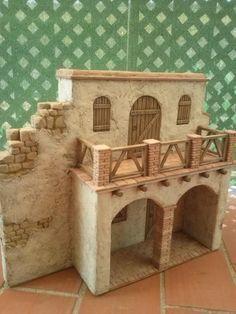 Christmas Nativity Scene, Christmas Villages, Christmas Crafts, Pottery Houses, Ceramic Houses, Vitrine Miniature, Miniature Houses, Miniture Things, Fairy Houses