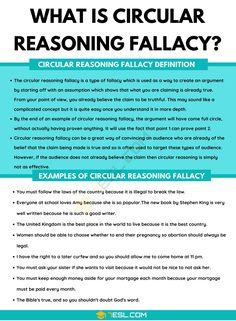 Circular Reasoning Fallacy: Definition and Useful Examples of Circular Reasoning Fallacy English Writing Skills, Writing Tips, Teaching Writing, Teaching Tips, Logic And Critical Thinking, Logical Fallacies, Essay Tips, List Of Skills, Figure Of Speech