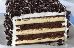 OREO & Ice Cream Sandwich Cake  --- use 6 Klondike Chocolate Sandwiches, and 6 Vanilla.   Alternate flavors -- start with 6 as bottom layer, spread cool whip mixture, then remaining 6 sandwiches.   Spread rest of cool whip mixture on top and sides--- add extra crushed Oreos on sides.   This was a big hit !!!   Enjoy ~!!