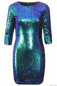 Sukienka cekinowa  (szmaragdowa)