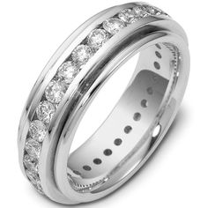 Platinum Diamond Eternity Ring (Over 2.40ct. tw.) | www.weddingbands.com | @Judy Clark Bands