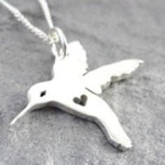 Silver Pendant on Chain | Hummingbird on Chain