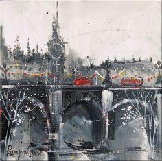 London skyline original art