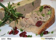 Domácí lahůdková paštika recept - TopRecepty.cz Czech Recipes, Ethnic Recipes, Canned Meat, Marmalade, Banana Bread, Mashed Potatoes, Sandwiches, Food And Drink, Pizza