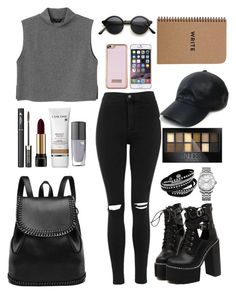 """""""NoName#35"""" by eaton05 ❤ liked on Polyvore featuring Monki, WithChic, Topshop, Lancôme, Ted Baker, Vianel, Calvin Klein, Maybelline, women's clothing and women's fashion"""