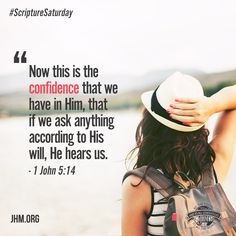 The Bible assures us that when we ask according to God's will, He hears us. Don't be afraid to go to your Father with confidence and make your requests known to Him. Godly Quotes, Bible Verses Quotes, Faith Quotes, Scriptures, Jesus Is Lord, Jesus Christ, John Hagee, Scripture Memorization, John 5