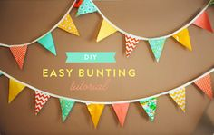 DIY Easy Bunting tutorial by The Goodness!