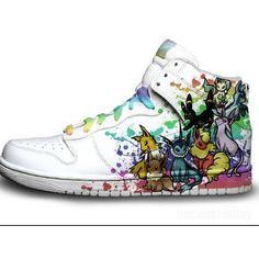 Pokemon eeveelution shoes! pokemon, eevee, jolteon, vaporeon, flareon, espeon, umbreon, glaceon, leafeon, shoe