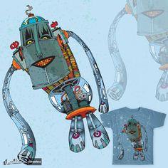 NapstaBot on Threadless Shirt, Dress Shirt, Shirts