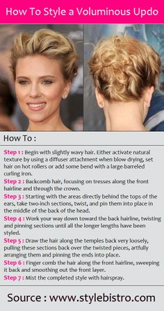 How To Style a Voluminous Updo | PinTutorials