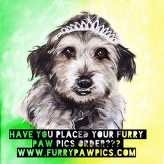 #IfIHadOneWishIWould be #queen PAW in a @furrypawpics portrait!! #furrypawlife www.furrypawpics.com #instaart #petart #art #queenforaday #royalty #instapets #holidays #giftideas