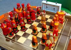 Vintage original chess set from Soviet Union-Kiev(Ukraine)-1980's. Schachspiel…