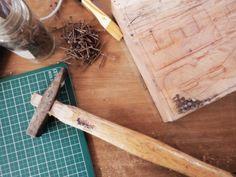 Work in progress - wood typography