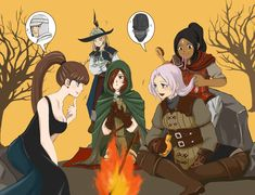 Dark Girls night out by EseEbi on DeviantArt Dark Souls You Died, Dark Souls 2, Arte Dark Souls, Soul Saga, Character Art, Character Design, Happy Soul, Video Game Art, Fandom