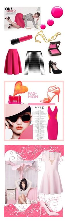 """""""pink"""" by saturn43210 ❤ liked on Polyvore featuring Chicwish, Michael Kors, Chanel, Kate Spade, Topshop, Jouer, MAC Cosmetics, Thierry Mugler, Jimmy Choo and Moschino"""