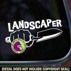 LANDSCAPER FIST TROWEL Vinyl Decal Sticker