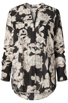 Morning Glow | Fall collection | Blouse | Print | Flowers | Black