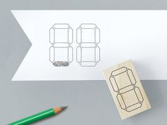 Dot Matrix or LCD Grid rubber stamp set, easily customize by filling in to make desired patterns. Eraser Stamp, Boutique Vintage, Number Stamps, Stamp Printing, Letters And Numbers, Digital Stamps, Letterpress, Stationery, Presents