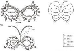 Схема бабочки крючком