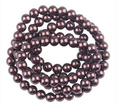 Fashion Beads, Pearl Beads, Round Glass, Glass Beads, Jewelry Making, Beaded Bracelets, Pearls, Coffee, Html