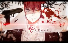 Anime heterochromia / odd eyes grey orange (akabane karma assassination classroom)