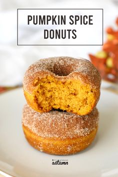Easy Pumpkin Spice Donuts - baked, not fried! Pumpkin Donuts Recipe, Homemade Donuts, Pumpkin Recipes, Pumkin Donuts, Pumpkin Cupcakes, Donut Recipes, Baking Recipes, Dessert Recipes, Coffee Recipes