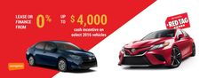 SignUp For Red Tag Days At Pickering Toyota! Enjoy limited period offers on your favorite Toyota models.