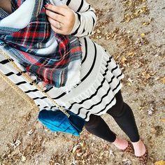 stripes and plaid #fashion #ootd