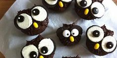 So werden die Eulen-Cupcakes gebacken