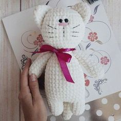 Crochet toy kitty amigurumi pattern by Iuliia Koroleva. Free amigurumi pattern.