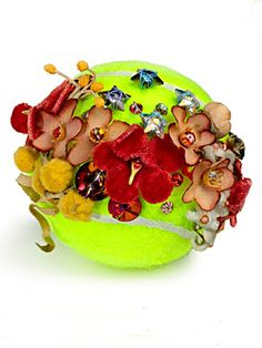 Blinged out tennis ball for the US Open.