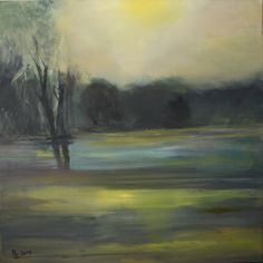Herbst, Öl auf Lw 80 x 80 cm,  www.roswitha-schablauer.at Saatchi Online, Autumn Art, Saatchi Art, Original Paintings, Art Prints, Canvas, Artist, Landscapes, Trees