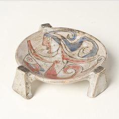 Jean Derval; Glazed Ceramic Dish, c1960.,