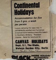 Lange vor Pinterest haben unsere britischen Kollegen ihre Werbung in der Zeitung veröffentlicht. Eine der ersten Annzeigen seht Ihr hier.