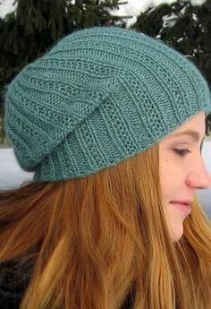 Pearmain Slouchy Beanie - Knitting Patterns