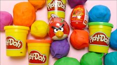 ANGRY BIRDS Special - Play-Doh, Surprise Eggs Fun Unboxing