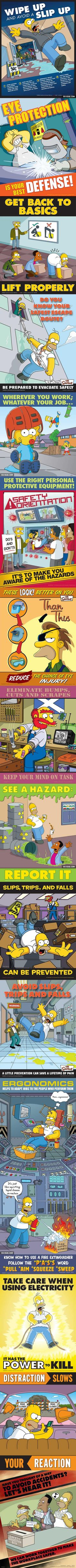 standard A 35 Simpson's Safety Posters (Part 1) - 9GAG