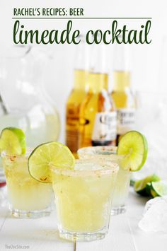 Beer limeade. A new twist on a shandy. http://thechicsite.com/2015/01/23/beer-limeade/