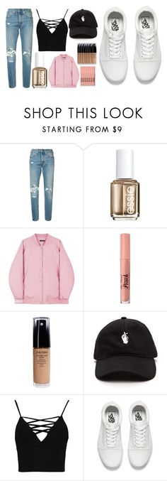 """""""snap"""" by cashtonlv on Polyvore featuring Levi's, Essie, Too Faced Cosmetics, Shiseido, Boohoo and Vans"""