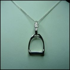 Stirrup Pendant Large Equine Jewelry Equine by DragonsFlyDesigns, $65.00