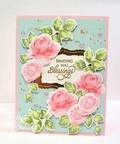 Embellished Dreams: The Stamp Simply Ribbon Store and Altenew Stamps- Sending You Blessings Vintage Rose Card