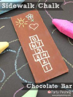 summer snack, kids sidewalk chalk, cute candy bar, cute food, easy kids dessert, summer kids treat