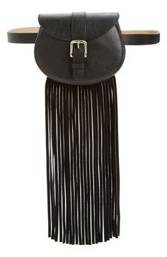 Another Line Fringe Belt Bag