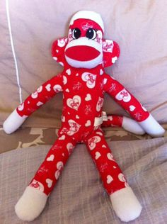 "RED SOCK MONKEY ""LOVE"""