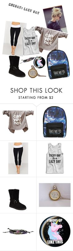 """""""Monday: Lazy Day"""" by calligaskarth ❤ liked on Polyvore featuring Disney and UGG Australia"""